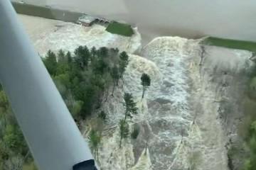 突发美国两座建成近百年的大坝溃堤或引发严峻水灾上万人撤离